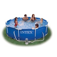 Бассейн каркас Intex Metal Frame Pool 56999 фильтр-насос, 305х76см