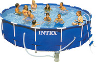 Бассейн каркас Intex Metal Frame Pool Set 56949 + насос-фильтр, лестница. 457х107 см