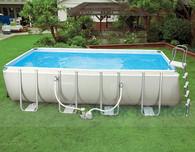 Бассейн каркас Intex Ultra Frame Pool 54482 плюс волейбольная сетка , 549х274х132см