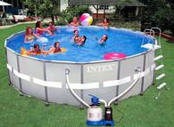Каркасный бассейн Intex 54958 549х132 + насос-фильтр c хлоргенератором, аксессуары