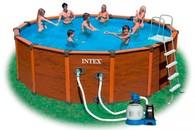 Каркасный бассейн Intex 54972, 478 см х 124 см. Песочный фильтр
