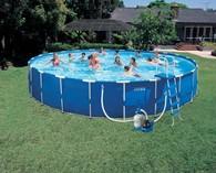 Каркасный бассейн Intex Metal Frame Pool 54948, 732 х 132 см + насос-фильтр, аксессуары
