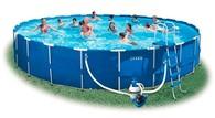 Каркасный бассейн Intex Metal Frame Pool 54950, 732 х 132 см + насос-фильтр с хлоргенератором, аксес