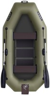 Гребная двухместная надувная лодка с реечным настилом, навесным транцем Арго A-260 Т